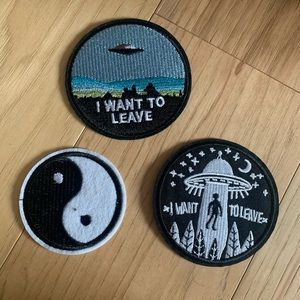Alien Outerspace Iron On Patches